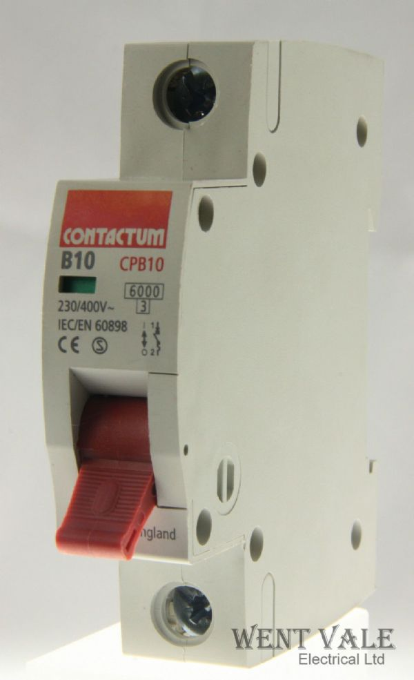 Contactum CP Range - CPB10-B10/1 - 10a Type B Single Pole MCB Used